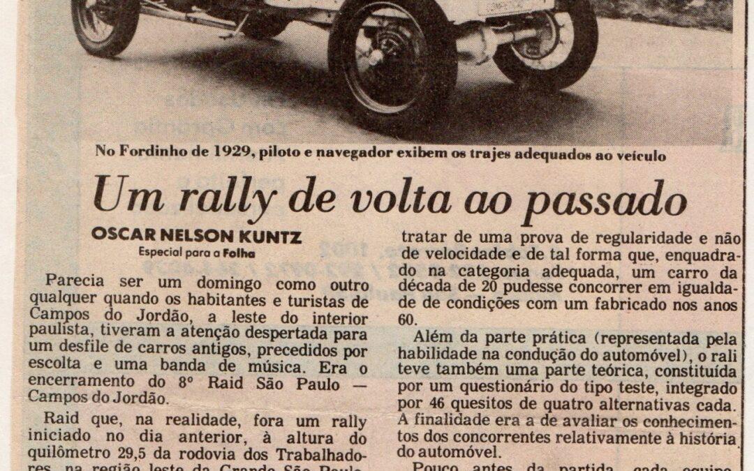 Um Rally de volta ao passado.